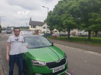 A big congratulations to David Waugh, who has passed his driving test today at Cobridge Driving Test Centre, on his First attempt and with just 3 driver faults.<br />