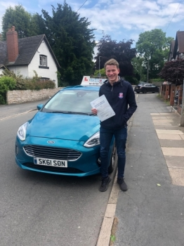 A big congratulations to Tom Latham, who has passed his driving test at Newcastle Driving Test Centre on his First attempt.<br />