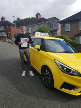 A big congratulations to Lewis Jones, who has passed his driving test today, at Newcastle Driving Test centre with just 2 driver faults..<br />