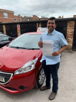 A big congratulations to Dr Vamsiraj Kota, who has passed his driving test today at Newcastle Driving Test Centre, with just 4 driver faults.<br />