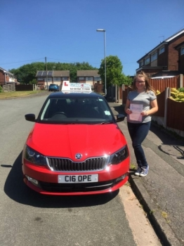 A big congratulations to Paige Dale Denton Paige passed her driving test today at Cobridge Driving Test Centre first time and with just 3 driver faults <br />
