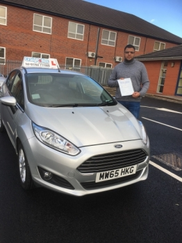 A big congratulations to Qaisser Tikka Qaisser passed his driving test today at Newcastle Driving Test Centre first time and with just 3 driver faults<br />