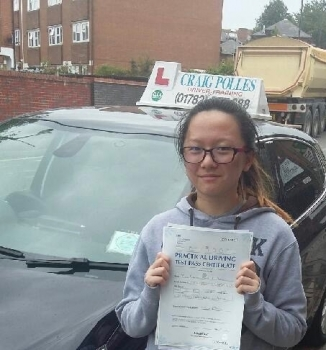 A big congratulations to Rachel Lee Rachel passed her driving test today at Newcastle Driving Test Centre with just 5 driver faults <br />