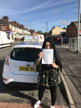 A big congratulations to Radia Bibi Radia passed her driving test at Newcastle Driving Test Centre<br />