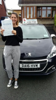 A big congratulations to Rebecca Viles Rebecca passed her driving test at Newcastle Driving Test Centre with just 1 driver fault <br />