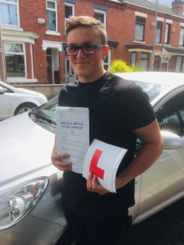 A big congratulations to John Belcher-Heath, who has passed his driving test at Crewe Driving Test Centre, on his First attempt and with just 5 driver faults.<br />