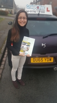 A big congratulations to Rhea Meakin, who passed her driving test today at Cobridge Driving Test Centre, with 7 driver faults.<br />