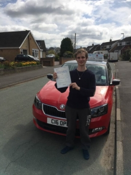 A big congratulations to Ryan Wilson Ryan passed his<br />
