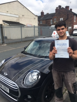 A big congratulations to Safa Mohammad Safa passed his driving test today at Cobridge Driving Test Centre with just 2 driver faults <br />