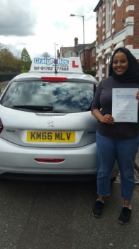 A big congratulations to Salma Hussein Albakri Salma passed her driving test today at Cobridge Driving Test Centre first time and with just 4 driver faults <br />