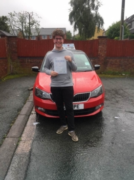 A big congratulations to Sam Billinge. Sam passed his driving test today, at Cobridge Driving Test Centre first time and with just 5 driver faults. <br />