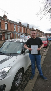 A big congratulations to Sean Houlston, who has passed his driving test today at Crewe Driving Test Centre, with just 3 driver faults.<br />