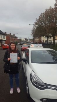 A big congratulations to Sian McMain Sian passed her<br />