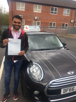 A big congratulations to Sooraj Gopalan, who has passed his driving test today at Newcastle Driving Test Centre, with 7 driver faults.<br />