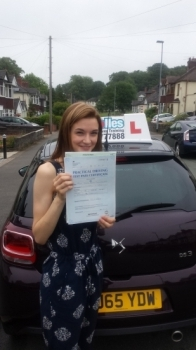 A big congratulations to Sophie Goodfellow Sophie passed her driving test today at Cobridge Driving Test Centre with just 1 driver fault <br />