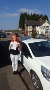 A big congratulations to Steph Blairss Steph passed her<br />