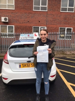 A big congratulations to Tiffany Bereton, who has passed her driving test today at Newcastle Driving Test Centre, at her First attempt.<br />