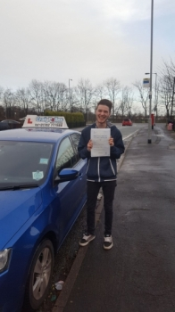 A big congratulations to Tom Baillie, who has passed his driving test today at Cobridge Driving Test Centre, with 6 driver faults.<br />