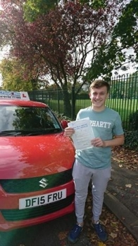 A big congratulations to Tom Pemberton Tom passed his driving test at Crewe Driving Test Centre and with just 3 driver faults<br />