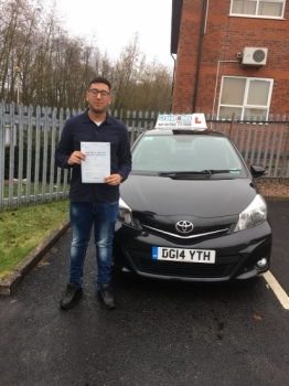 A big congratulations to Usnain Sajid, who has passed his driving test today at Newcastle Driving Test Centre, with just 4 driver faults.<br />