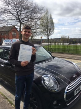 A big congratulations to Will Stocking Will passed his<br />