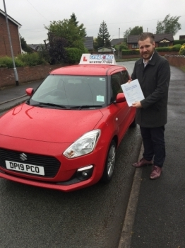A big congratulations to Simon Frain, who has passed his driving test today at Newcastle Driving Test Centre, with 6 driver faults.<br />