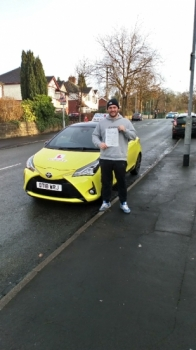 A big congratulations to Kyle Walton, who has passed his driving test today at Cobridge Driving Test Centre.<br />