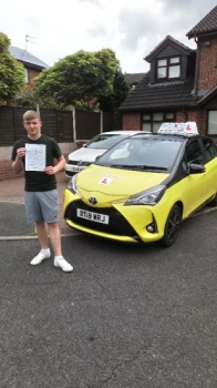 A big congratulations to James Wain, who has passed his driving test at Newcastle Driving Test with just 2 driver faults.<br />