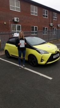 A big congratulations to Ellie Martin, who has passed her driving test at Newcastle Driving Test Centre, on her First attempt and with just 3 driver faults.<br />