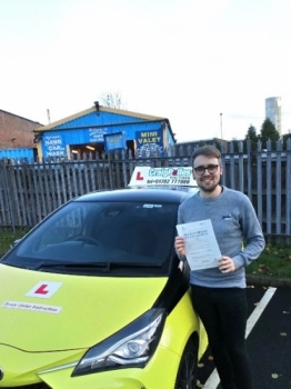 A big congratulations to Tom Maddox, who has passed his driving test today at Newcastle Driving Test Centre, with 7 driver faults.<br />