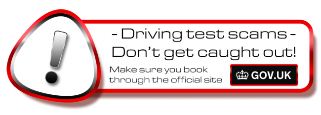 Don´t get scammed! book your theory or driving test in Crewe on the .gov site